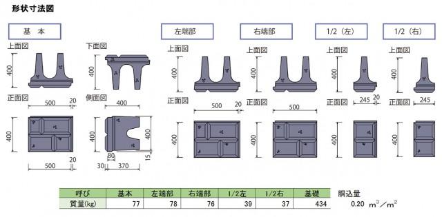 ポーラスけんちⅢ型 形状寸法図