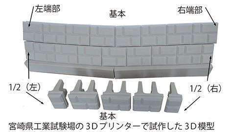 ポーラスけんちⅢ 3Dプリント出力模型によるカーブ施工例